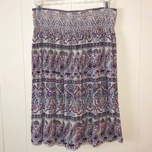 Westport Paisley Skirt